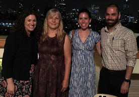 From left: Dena Schulman-Green, Yafa Haron, Shelli Feder, and David Collett have been collaborating on this project for more than three years. They also partner with Hanna Admi and Eliana Aaron. Their field work included hospice visits with Bedouins in the desert.