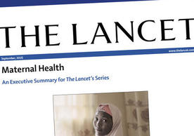 Cover of Lancet Executive Summary, Maternal Health Series